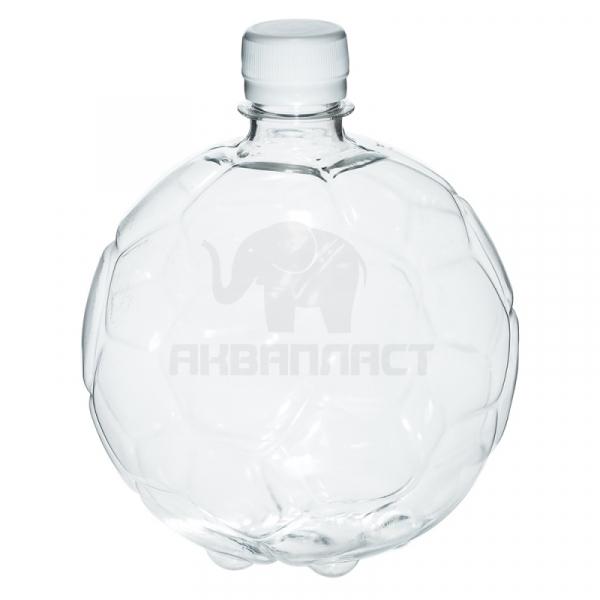 1,0 л. ПЭТФ бутылка б/ц МЯЧ BPF Колпачок