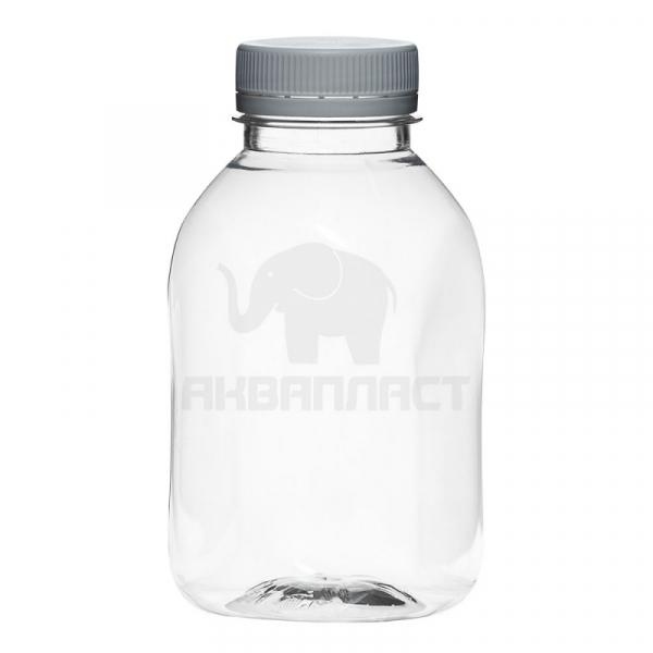 0,3 л. ПЭТФ бутылка б/ц, квадр.,горло 38 мм  100 шт Колпачок