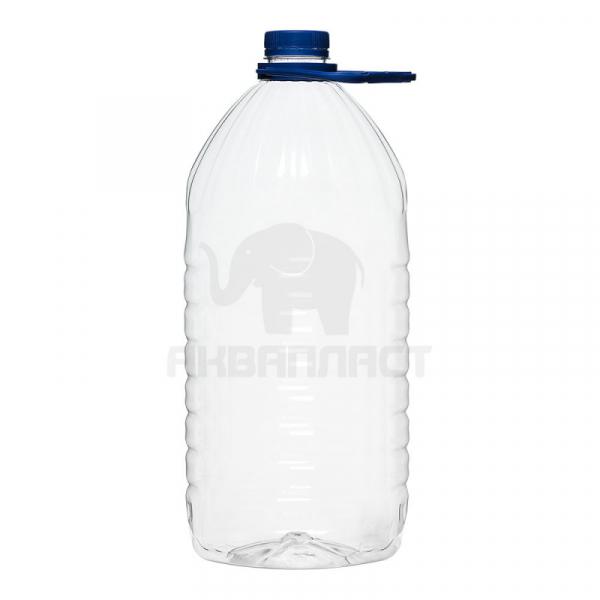 4,0 л. ПЭТФ бутылка б/ц 38 мм горло 28 шт Колпачок Ручка
