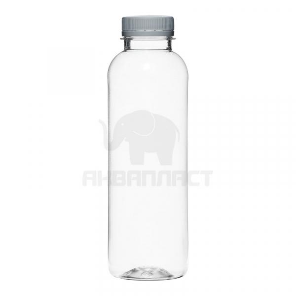 0,5 л. ПЭТФ бутылка б/ц гладкая круглая цилиндром 38 горло 100 шт Колпачок