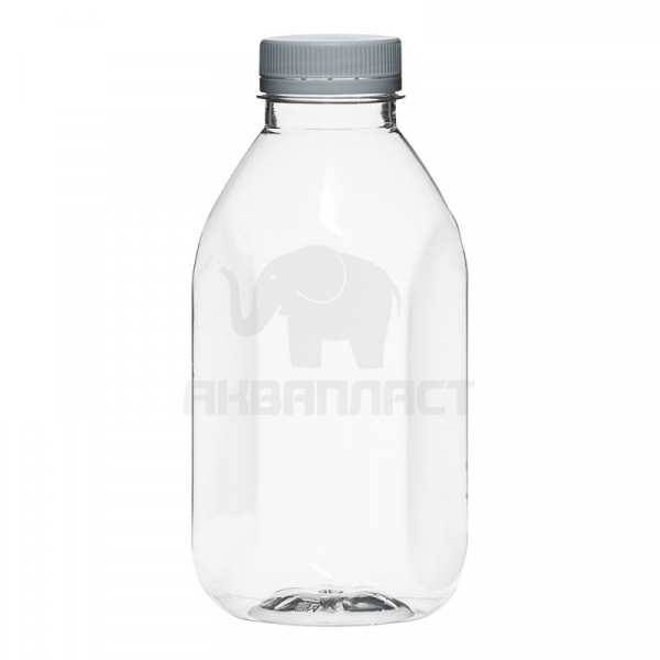 0,5 л. ПЭТФ бутылка б/ц КВАДР. горло 38 мм BPF 90 шт Колпачок