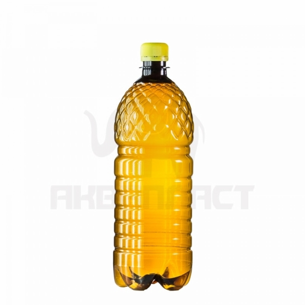 Бутылка ПЭТ 1.0 л. горло 28 мм. (рифленая) тёмная с колпачком