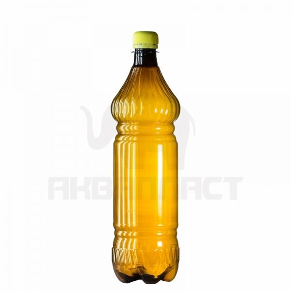 Бутылка ПЭТ 1.0 л. горло 28 мм. ВВС с колпачком тёмная