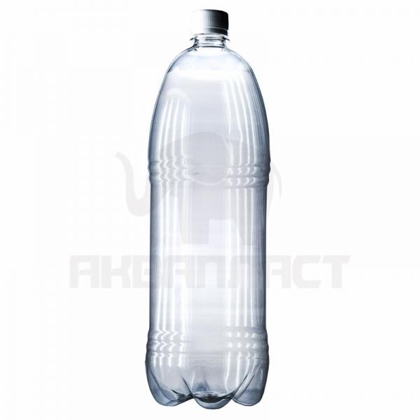 Бутылка ПЭТ 2.0 л. горло 28 мм. с колпачком (гладкая)